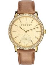 Esprit ES108112002 Ladies tp10811 couro marrom pulseira de relógio