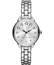 Marc Jacobs MJ3497 Senhoras prata betty pulseira de aço relógio