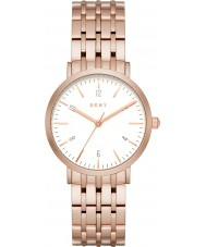 DKNY NY2504 Senhoras Minetta pulseira rosa relógio do aço ouro
