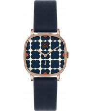 Orla Kiely OK2092 Ladies cecelia marinha relógio com pulseira de couro