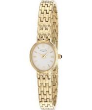Rotary LB02084-02 Senhoras relógios de ouro branco relógio banhado