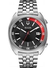 Bulova 96B210 Mens ba ii prata pulseira de aço relógio