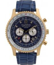 Krug-Baumen 600207DS Mens viajante ar relógio de diamantes