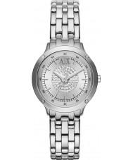 Armani Exchange AX5415 Ladies pedra definir pulseira de prata vestido de relógio