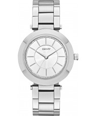 DKNY NY2285 Ladies Stanhope relógio pulseira de aço de prata