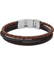 Fossil JF02213040 Casuais mens marrom de multi pulseira de couro pulseira