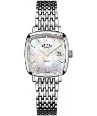 Rotary LB05305-07 Senhoras relógios relógio Windsor prata tom de aço