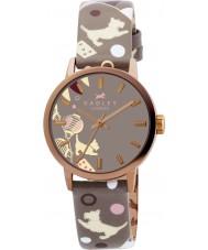 Radley RY2068 Ladies circo marsupial relógio com pulseira de couro de impressão