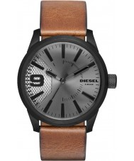 Diesel DZ1764 Mens grosa luz de couro marrom relógio de pulseira