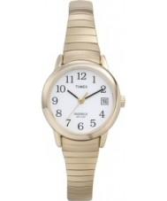 Timex T2H351 Ladies ouro branco relógio fácil leitor