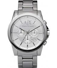 Armani Exchange AX2058 prata relógio de vestido cronógrafo de aço dos homens