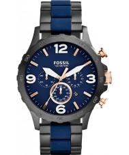 Fossil JR1494 Mens nate cronógrafo ip preto relógio marinha