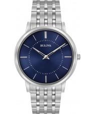 Bulova 96A188 Mens ultra slim prata relógio pulseira de aço