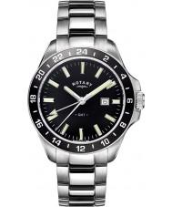 Rotary GB05017-04 Mens relógios havana relógio tom de prata