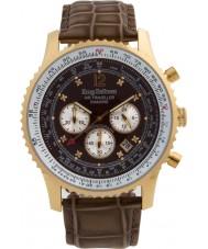Krug-Baumen 600213DS Mens viajante ar relógio de diamantes