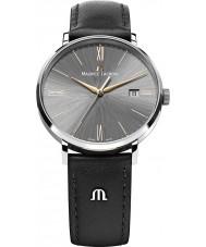 Maurice Lacroix EL1087-SS001-811 Mens Eliros cinza e ouro rosa de couro preto relógio pulseira