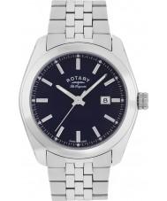 Rotary GB90110-05 Mens les originales Lausanne prata pulseira de aço relógio