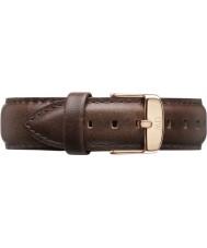 Daniel Wellington DW00200009 Mens clássico Bristol 40 milímetros subiu de couro marrom pulseira de reposição de ouro