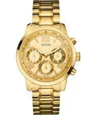 Guess W0330L1 Ladies nascer do sol banhado a ouro pulseira relógio