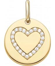 Thomas Sabo LBPE0005-414-14 As senhoras amam ouro amarelo 18 quilates ponte pingente banhado