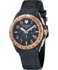 Swiss Eagle SE-9061-05 campo Mens tático relógio cronógrafo preto