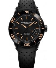 Raymond Weil 2760-SB2-20001 Mens freelancer mergulhador borracha preta relógio de pulseira