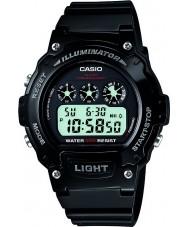 Casio W-214HC-1AVEF Coleção relógio cronógrafo preto