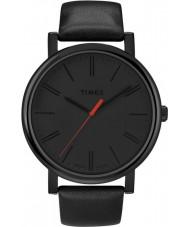 Timex T2N794 Mens relógio redondo preto clássico