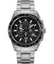 Swiss Military 6-5225-04-007 Mens cruzado prata preto relógio cronógrafo