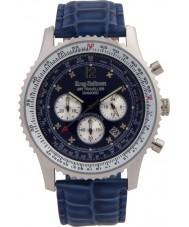 Krug-Baumen 600507DS Mens viajante ar relógio de diamantes