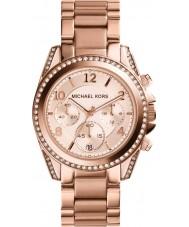Michael Kors MK5263 Ladies Blair subiu relógio cronógrafo de ouro