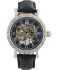 Krug-Baumen 60111DM prestígio Mens couro preto relógio pulseira
