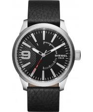 Diesel DZ1766 Mens grosa de couro preto relógio pulseira