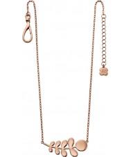 Orla Kiely N4014 Ladies buddy 18 quilates rosa-tronco de ouro padrão de colar