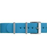 Timex TW7C07400 cinta de nylon azul Fairfield Weekender