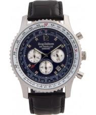 Krug-Baumen 600508DS Mens viajante ar relógio de diamantes
