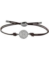 Fossil JF00117040 Ladies Glitz do vintage pulseira de couro marrom
