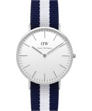 Daniel Wellington DW00100018 Mens clássico 40 milímetros glasgow relógio de prata
