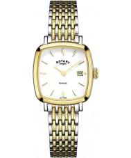 Rotary LB05306-01 Senhoras relógios Windsor duas de ouro tom relógio banhado