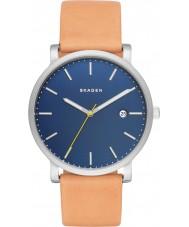 Skagen SKW6279 luz dos homens Hagen couro marrom relógio de pulseira