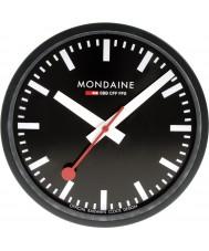 Mondaine A990-CLOCK-64SBB relógio de parede Black metal