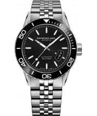 Raymond Weil 2760-ST1-20001 Mens freelancer mergulhador aço de prata pulseira de relógio