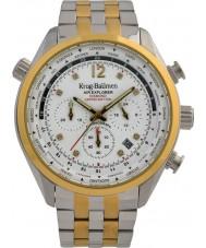 Krug-Baumen 100107DM Mens ar explorador diamante relógio de edição limitada