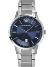Emporio Armani AR2477 Mens clássico relógio de prata azul