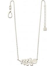 Orla Kiely N4015 Ladies camarada prata colar padrão estaminais