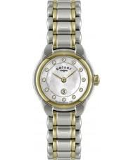 Rotary LB02602-41L Senhoras relógios de dois tons de relógios
