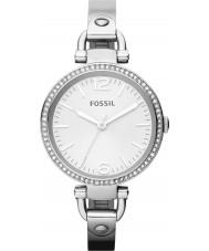 Fossil ES3225 relógio de prata das senhoras georgia