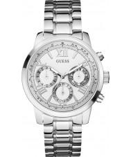 Guess W0330L3 Ladies sunrise relógio pulseira de aço de prata