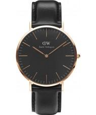 Daniel Wellington DW00100127 relógio clássico 40 milímetros Sheffield preto