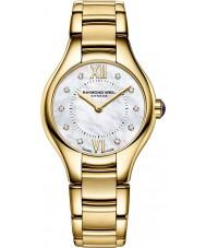 Raymond Weil 5124-P-00985 Ladies ouro Noêmia banhado relógio de diamantes